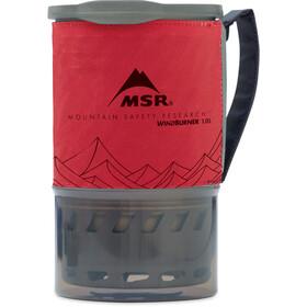 MSR WindBurner System '1l 3 lang' rød